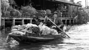 Bankok Floating Market by David Gabis.