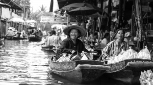 Bankok Floating Market by David Gabis.