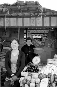 Ladies in Food Market of Almaty by David GABIS.