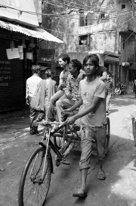 Riding in New Delhi with Friends by David GABIS