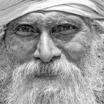 Old Indian Man close-up by David Gabis