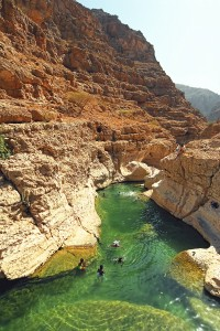 Wadi Shab, Oman by David Gabis.
