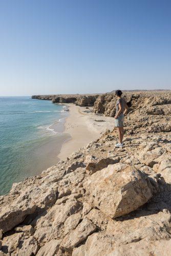 Scenic view of a wild beach, coast of Ras Al Jinz, Sultanate of Oman