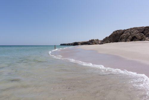 Woman alone at a wild Beach of Ras Al Jinz, Oman 🇴🇲