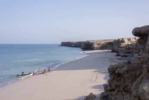Fishermen on the beach of Ras Al Jinz, Oman 🇴🇲