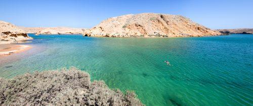 Swimming in Bandhar Khairan, Oman 🇴🇲