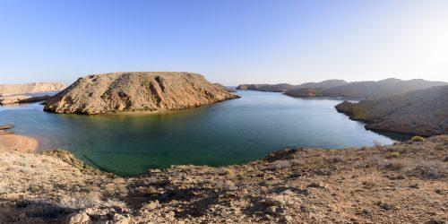 Sunrise in a Fjord in Bandar Khairan, Oman 🇴🇲