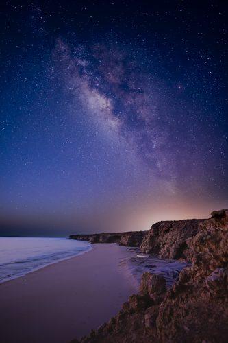 Milky Way above a wild beach and the ocean, Ras Al Jinz, Oman 🇴🇲