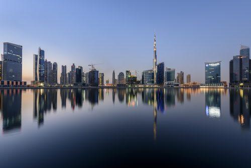 Dubai Downtown and Burj Khalifa, Dubai, United Arab Emirates, Arabian Peninsula, Middle East